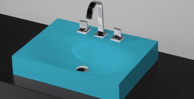 Cubas para Banheiro  Via Férrea  Metais e Acessórios -> Cuba Quadrada De Louca Para Banheiro