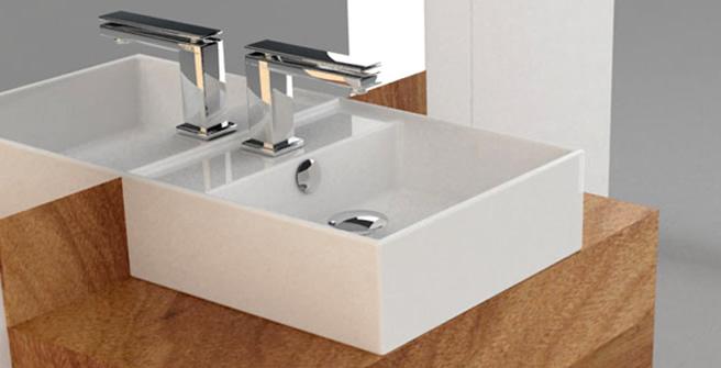 Cubas para Banheiro  Via Férrea  Metais e Acessórios -> Cuba Para Banheiro De Semi Encaixe Branca Icasa